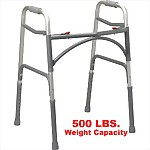 Bariatric Dual Release Folding Walker, 500 lb capacity
