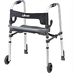 Clever-Lite LS Walker with Seat & Push Down Brakes