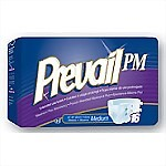 Prevail® PM Extended Wear Briefs, Medium - 96/Case