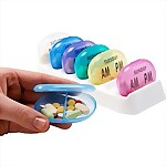 AM/PM 7-Day Pill Reminder Tray