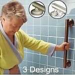 Designer Elegance Grab Bar with Grip Pad