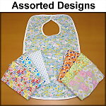 Floral Flannel Adult Bib for Women