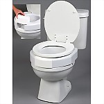 "3"" Elevated Secure-Bolt Toilet Seat, Standard Size"