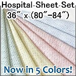 Deluxe Knit Hospital Sheet Set, 36