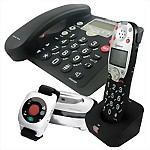 Amplicom® PowerTel 785 Responder™ Amplified Phone with Wrist Shaker & Expandable Handset