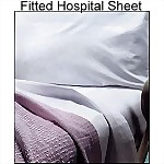 White Fitted Hospital Sheet, 36 x 80