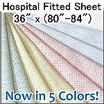 Deluxe Knit FITTED Hospital Sheet, 36 x 81