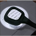 LED Illuminated 4X Handheld Magnifier