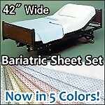 "Bariatric Deluxe Knit Hospital Sheet Set, 42"" x 82"""
