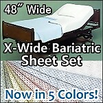 "X-Wide Bariatric Deluxe Knit Hospital Sheet Set, 48"" x 82"""