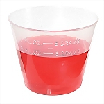 Plastic Graduated Medicine Cups (1 oz), 10/Package
