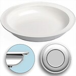 "Inner Lip Plate with Skid Resistant Base, 9"" White"