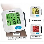 Color-Coded Wrist Blood Pressure Monitor