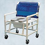 Bariatric PVC Commode / Shower Chair 500 Series Deluxe XW