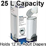 Adult Diaper Incontinence Disposal System, Large (25L) + 2 Refill Bags
