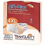 "Tranquility® 4XL AIR-Plus Bariatric Briefs (Fits 70""-106"")"