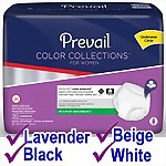 Prevail® Color Collections for Women, SMALL/MEDIUM, 80/Case