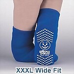 Bariatric XXXL Non-Skid Slipper Socks, Double Sided Treads
