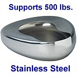Stainless Steel Adult Bed Pan, 500 lb weight capacity
