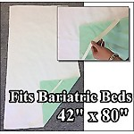 "Bariatric Hospital Waterproof Bed Pad (42""x80"") with Elastic Corners"