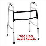 Bariatric Heavy Duty Dual Release Folding Walker, 700 lb capacity
