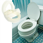 "Bolt On Hinged Toilet Seat (3.5""), STANDARD, Off-White"