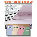 Pastel Hospital Bed Sheet Set, 36 x 80
