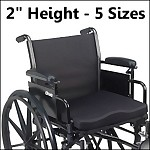 "Molded Foam General Use Wheelchair Cushion, 2"" Height"