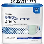 "McKesson® 2X-3X Ultra Plus Stretch Briefs 20/BG 80/CS, (Fits 58""-77"")"