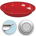 "Inner Lip Plate with Skid Resistant Base, 9"" Red"