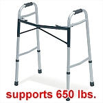 Bariatric Heavy Duty Dual Release Folding Walker, 650 lb capacity, 2/Case