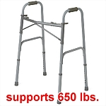Bariatric Heavy Duty Dual Release Folding Walker, 650 lb capacity