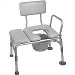 Combination Padded Transfer Bench/ Commode