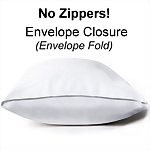 Overlap Closure Waterproof Vinyl Pillow Protector, Standard Size
