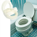 Bolt On Hinged Toilet Seat, 3.5
