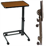 Deluxe Folding Overbed Tilt-top Table