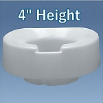 "Contoured Tall-Ette® 4"" Elevated Toilet Seat - Elongated"