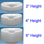 Contoured Tall-Ette® Elevated Toilet Seat (Standard)