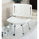 Easy Care Shower Chair with Back