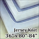 Jersey Knit 19 oz. Fitted Hospital Sheet, 36 x (80
