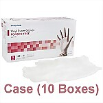 Vinyl Powder-Free Exam Gloves (Case) - Medium